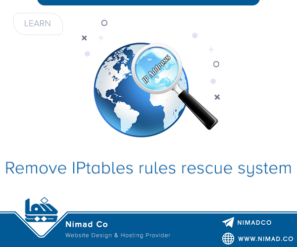 Remove IPtables rules from rescue system